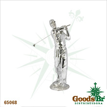 _ESTATUA GOLFISTA PRATA G FULLWAY 90x35x29cm