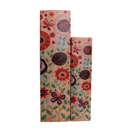 _BOOK BOX CJ 2PC FLOWER LOVEOLDWAY 25x18x7cm