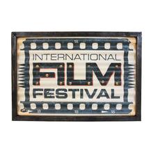 _QUADRO EM METAL COM LED  FILM FESTIVAL OLDWAY 43x30x4cm