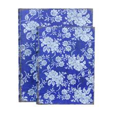 BOOK BOX CJ 2 PC FLORAL AZUL OLDWAY 30x24x8cm