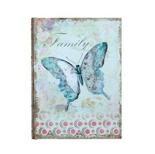 BOOK BOX BORBOLETA EM METAL FAMILY OLDWAY 24x18x6cm