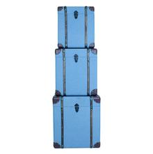 _CONJ 3 BAÚS BLUE TECIDO OLDWAY 52X52X57,5cm