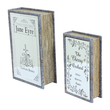 BOOK BOX CJ 2 PC COM ESPELHO JANE EYRE OLDWAY 27x18x7cm