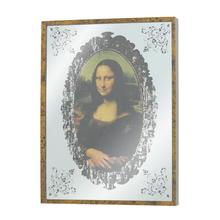 QUADRO ESPELHADO MONALISA OLDWAY 40x30x3,5cm