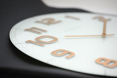 RELOGIO PAREDE CLASSY LARGE WHITE COPPER NEXTIME D=50cm
