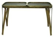 APARADOR NOVA USA COM 3 BANDEJAS PU MARROM 79x131x51cm