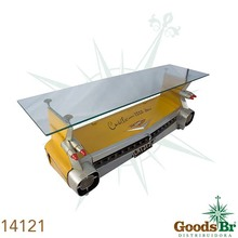 _MOVEL PAREDE TRASEIRA D CARROAMARELO OLDWAY 48X143X40cm