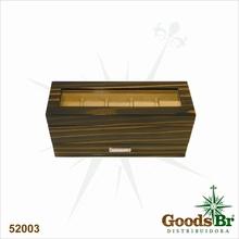 CAIXA RELOGIO COM GAVETAS BONY GOLDWAY 32x11x15cm