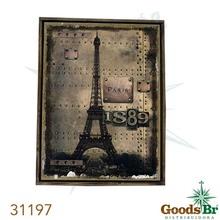 _QUADRO LINHO ANTIQUE PARIS 1889 OLDWAY 85X60X3CM