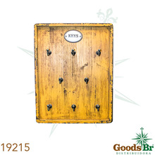 _PORTA CHAVES AMARELO 8GANCHS OLDWAY 36x27x6