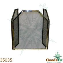 _PROTECAO LAREIRA INOX/TELA TRAPEZIO FULLWAY 60X100x27cm