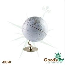 GLOBO BRANCO G BASE METAL CURVA FULLWAY 41x30x30cm