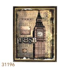 _QUADRO LINHO ANTIQUE LONDON1858 OLDWAY 85X60X3CM