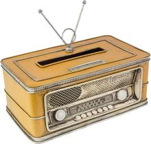 RADIO PORTA LENCO AMARELO OLDWAY 11x25x15cm