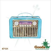 RADIO RETRO COFRE AZUL OLDWAY19X24X9CM