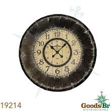 _RELOG PAREDE ENVELHEC ZINC AZUL/BRANCO OLDWAY 95x95x9,5cm