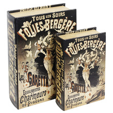 _BOOK BOX CJ 2PC FOLIES-BERGERES OLDWAY 27x18x7cm