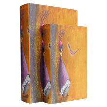 _BOOK BOX CJ 2PC FADA LARANJA ROXO OLDWAY 33x22x7cm