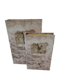 BOOK BOX CJ 2PC PASSA LOVE OLDWAY 27x18x7cm