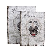 _BOOK BOX CJ 2PC GLAMOUR LONDON OLDWAY 28x21x7cm