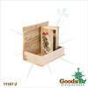 _BOOK BOX CJ 2PC CHRISTMAS ROSAS SEDA OLDWAY 27x18x7cm