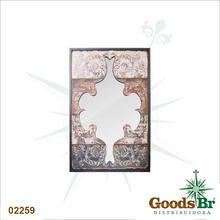 ESPELHO ARABESCOS PINTDS RECORTADOS OLDWAY 116x75x5cm