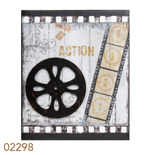 QUADRO METAL ANTIQUES MOVIESROLO OLDWAY 60x50x3cm