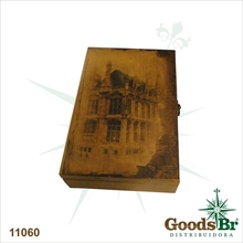 PORTA CHAVES CAIXA HOUSE OLDWAY 25x17x7cm