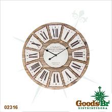 _RELOGIO PAREDE COR MADEI BORDEAUX OLDWAY D=80 80x80x4,5cm
