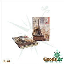 CADERNO ANOTACAO EIFFEL METRO OLDWAY 21x14x3cm