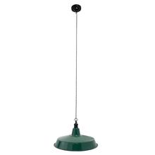 LUMINARIA ESMALTADA PENDANT LAMP GREEN/WHITE 150x45x45cm