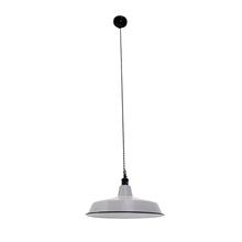 LUMINARIA ESMALTADA PENDENT LAMP GREY/WHITE 150x45x45cm