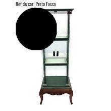 CRISTALEIRA VETTA UNA LACA PRETO FOSCO 160x60x50cm