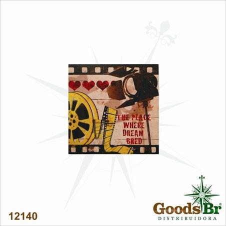 tela impressa movies the place  40x40x2cm