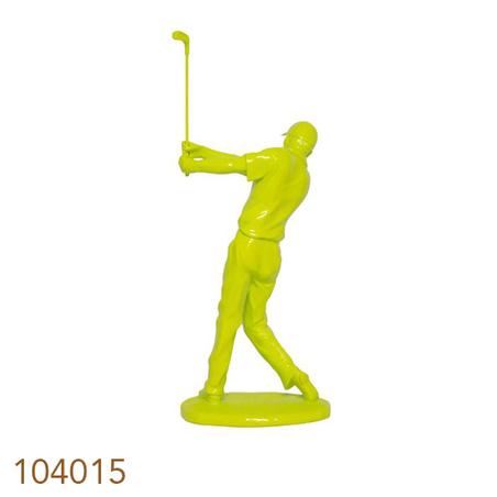 -estatua golfista amarelo  47x19x15cm