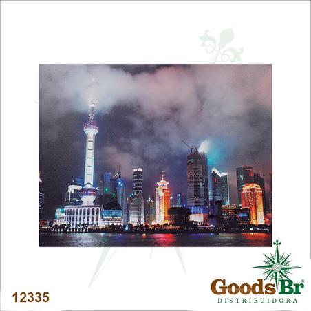 tela leds shanghai city  80x100x4cm