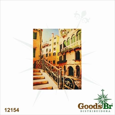 -tela impressa yellow buildings  50x40x2cm