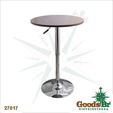 mesa tampo madeira com regulagem altura d=60 h= 67cm