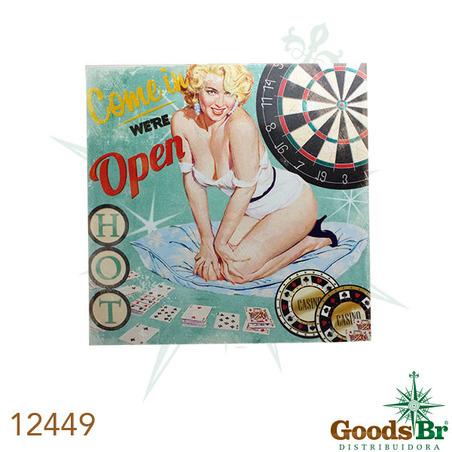 -tela impressa pin up blond cassino  60x60x3cm