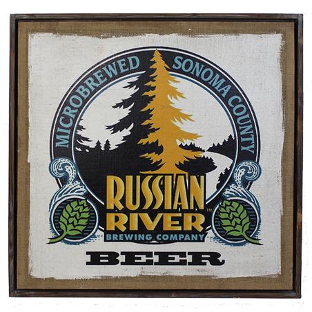 quadro linho russian river80x80x4cm