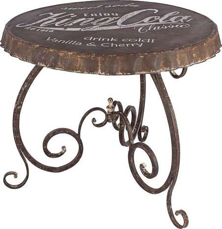 mesa antique tampa king colmetal  d=96 80x96x96cm