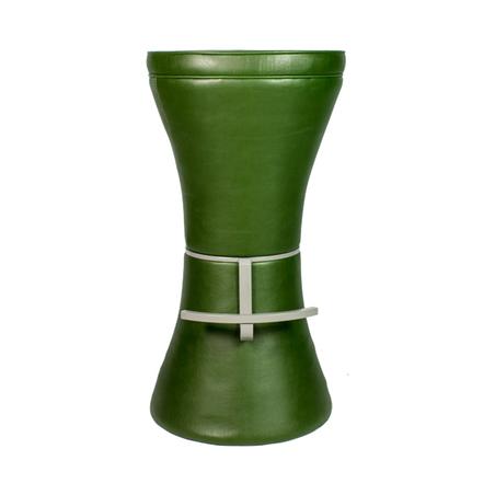 banqueta torre pu verde g 80x43x43cm