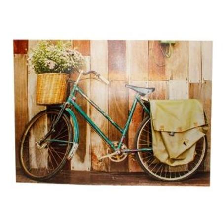 tela impressa bicicleta azul  120x158x4cm