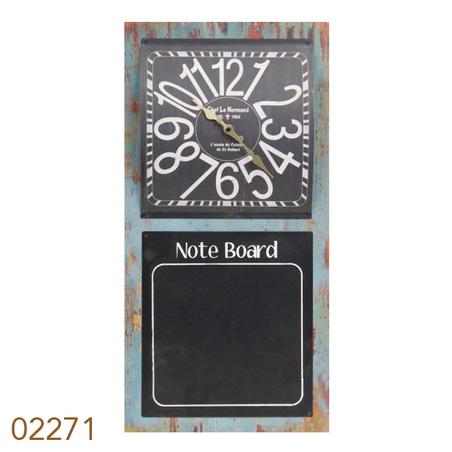 relogio com quadro negro note board  60x30x4cm