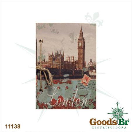 -caderno anotacao london 21x14x3cm