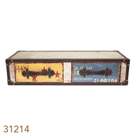 prateleira 2 gavetas colors30x80x18cm