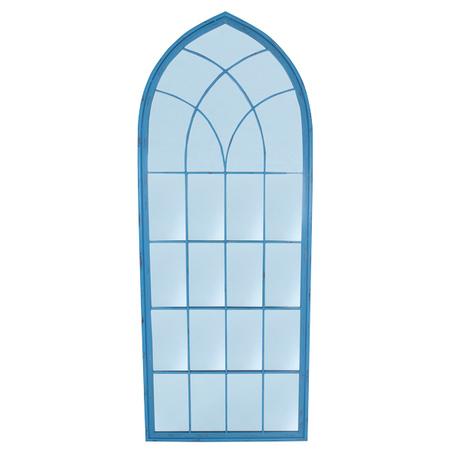 -espelho teto curvo moldura azul  187x74x3cm