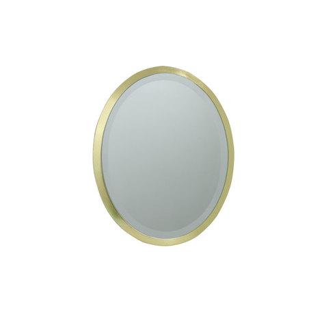 ESPELHO OVAL MDF GOLD GOLD GOLDWAY 31x22x1,6cm