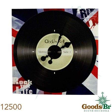 -relogio clock n roll  40x40x4cm