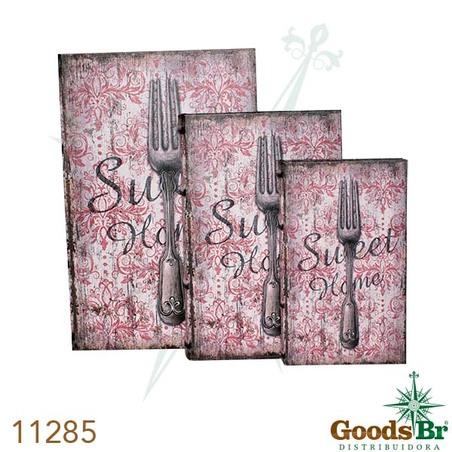 -book box cj 3pc pu garfo oldwa y 33x22x7cm